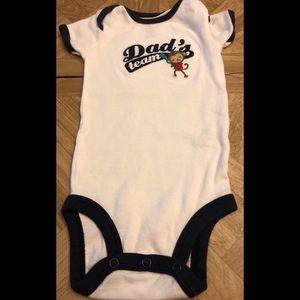 """Carter's onesie """"team dad""""."""